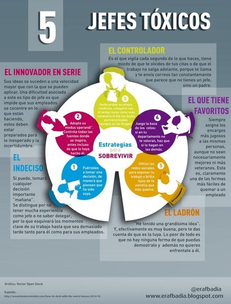 5 jefes tóxicos y cómo superarlos #infografia #infographic #rrhh | Recursos Humanos: liderazgo, talento y RSE | Scoop.it