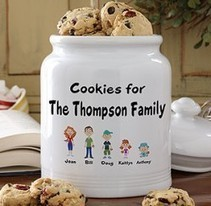 Our Family Characters Personalized Cookie Jar - Christmas Gifts | Christmas Gifts For Every Occasion | Scoop.it