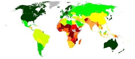 Human Development Index (HDI) World Map – 2012 » Land of Maps | Coaching | Scoop.it