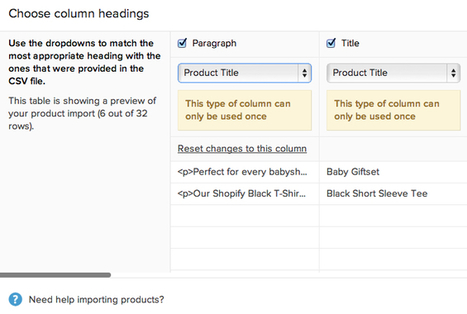 Support - How do I use the Product Importer? | Shopify | Scoop.it