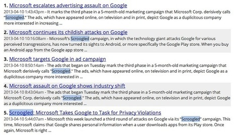 Social media on Microsoft's 'Scroogled' ads attacking Android's data sharing | Social Media Analytics and Visualization | Scoop.it