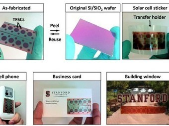 Stanford Develops Peel-and-Stick Solar Cells | Sniffer | Scoop.it