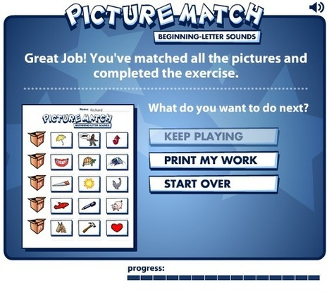 Free Technology for Teachers: Picture Match - A Read Write Think Game for K-2 | ipadseducation | Scoop.it