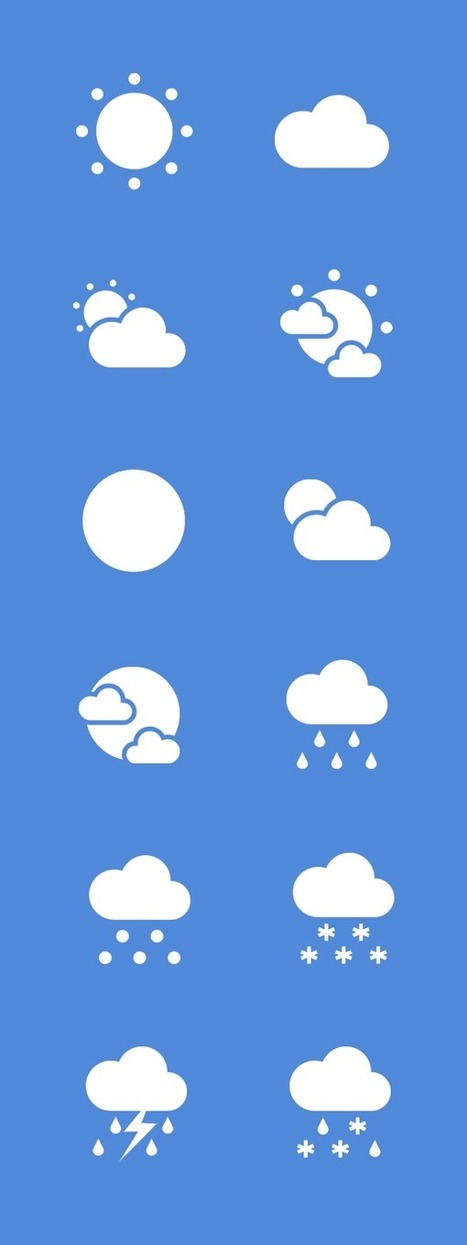 Free Flat Weather Icon Set | Web Design Freebies | Scoop.it
