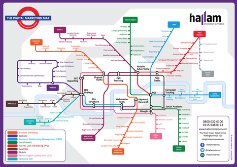Want to make sense of digital marketing strategy? The London Tube Map<br/>can help | Leadership and Management | Scoop.it