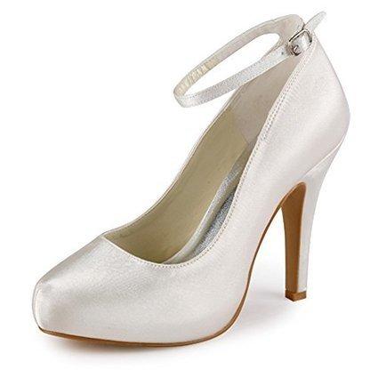 Elegantpark EP11049 Women's Closed Toe High Heel Platform Buckle Satin Wedding Shoes   Wedding Shoes   Scoop.it