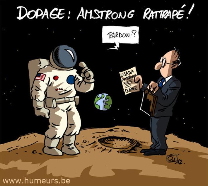 Dopage : Amstrong rattrapé ? | Baie d'humour | Scoop.it