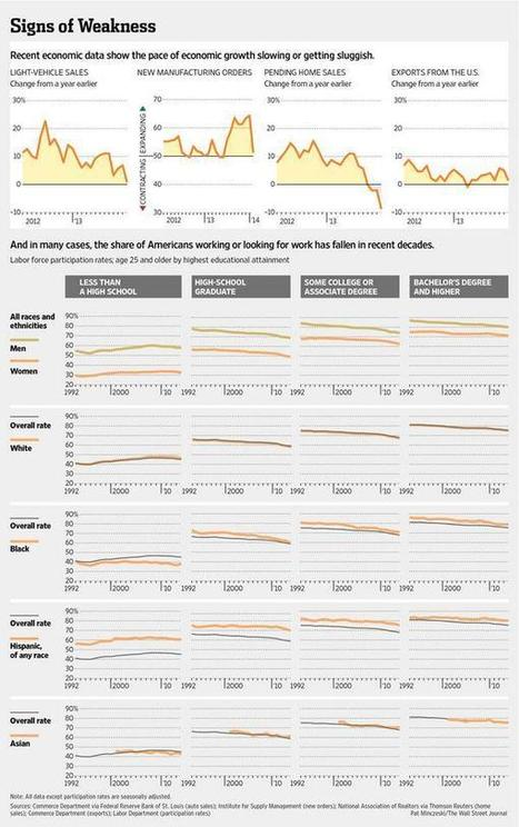 Recent U.S. economic data show the pace of economic growth slowing or getting sluggish @WSJGraphics | Corporate Strategy | Scoop.it