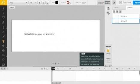 animatron, para crear animaciones en HTML5 sin saber programar | Apps Web PC | Scoop.it