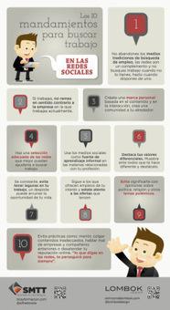 Los 10 mandamientos para buscar trabajo en las Redes Sociales [Infografía] | Infografias | Scoop.it