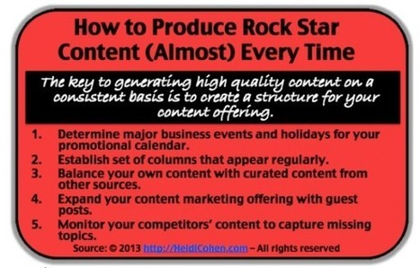 5 Content Creation Tactics Every Marketing Rock Star Needs [+ 5 More Tips] | Marketing Revolution | Scoop.it