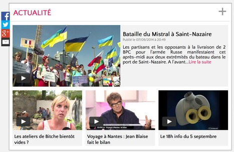 Le Web de Télénantes fait peu neuve | La veille de Ouest Médialab | Scoop.it