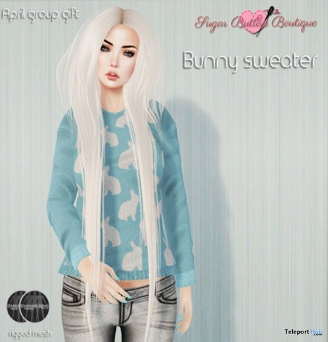 Bunny Sweater and 16 Other Group Gift by Sugar Button Boutique | Teleport Hub - Second Life Freebies | Second Life Freebies | Scoop.it