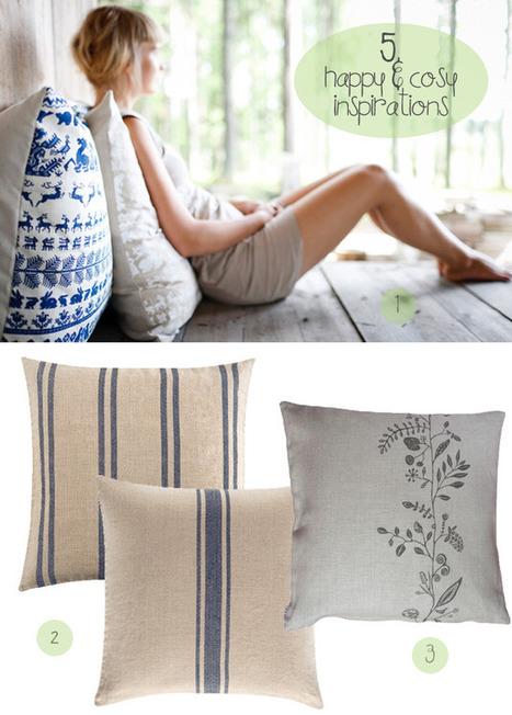5 Happy Inspirations: Cosy Fellows | Designer Cushions | Scoop.it