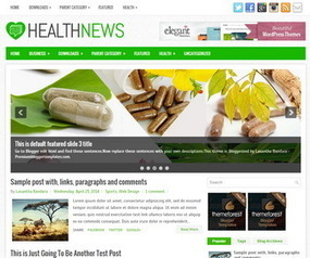 HealthNews Blogger Template | Blogger Templates | Scoop.it