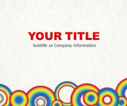 Free Rainbow Circles PowerPoint Template - SlideHunter.com   social work   Scoop.it