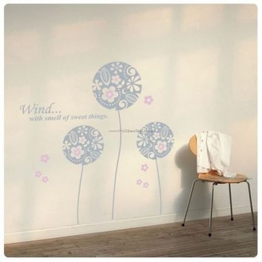 Wind With Smell of Sweet Things Flower Ball Wall Decals – WallDecalMall.com | Flower Wall Decals | Scoop.it