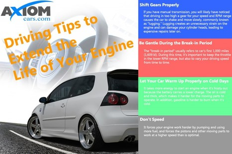 Driving Tips to Extend the Life of Your Engine | Visual.ly | Healthcare Marketing | Scoop.it