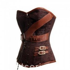 Fashion Brown Steampunk Overbust Corset Cheap Online [CD237] - $59.00 : A Series of Corsets | Overbust Corsets | Underbust Corsets | Boutique | Scoop.it