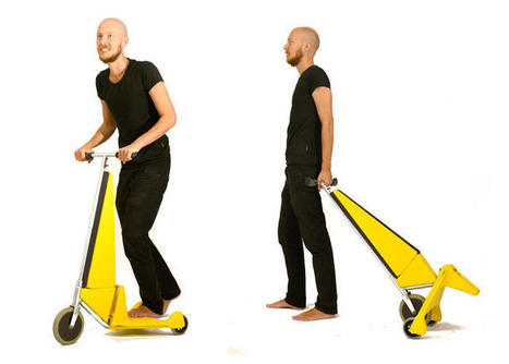 This Electric Scooter Turns Into A Storage Cart With One Simple Move | digitalNow | Scoop.it