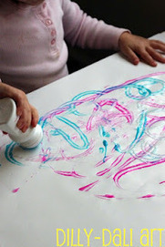 Dilly-Dali Art: Roll-On Paint | Teach Preschool Sharing | Scoop.it