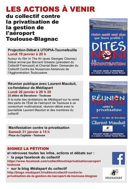 Vous avez dit privatisation de l'aéroport  Toulouse Blagnac ? - ReCap21 | La lettre de Toulouse | Scoop.it