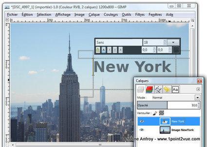 Utiliser l'outil texte de Gimp | TICE, Web 2.0, logiciels libres | Scoop.it