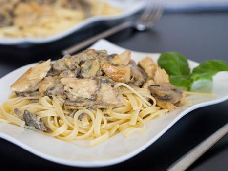 Dijon Chicken and Mushroom Pasta | Fit tonic | Scoop.it