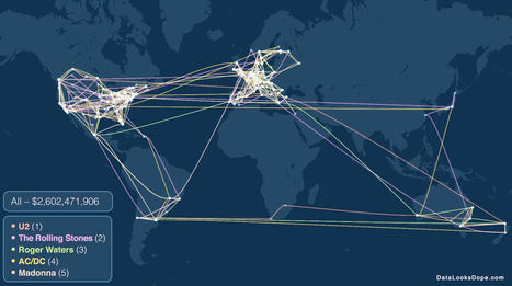 Map of the Five Most Successful Concert Tours of All-Time | Open data | Scoop.it