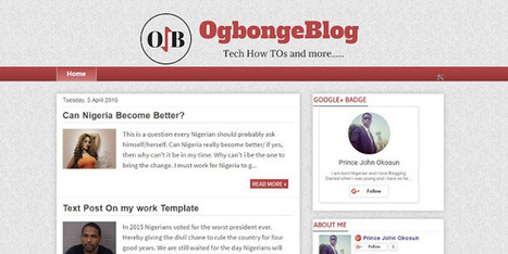 Free Download OgbongeBlog Blogger Template | Blogger themes | Scoop.it