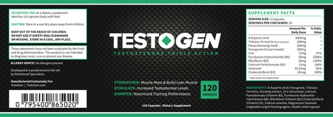 Testogen a Natural Testosterone Booster | Herbal Health Supplements | Scoop.it