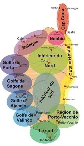 Huizen appartementen en vakantieparken op Corsica per regio   Alles over Corsica   Scoop.it