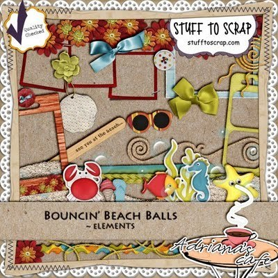 Adriana's Cafe: Bouncin' Beach Balls | Digiscrap | Scoop.it