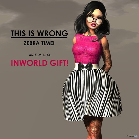 Zebra Time Dress Gift by THIS IS WRONG | Teleport Hub - Second Life Freebies | Second Life Freebies | Scoop.it
