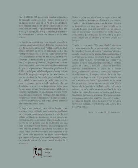 Par(entes)is (José Luis Morales) - Alacena Roja -Librería Digital- | Esteban Peicovich | Scoop.it