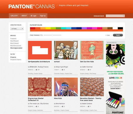 Pantone lance le PANTONE Canvas en partenariat avec Behance | SPIP - cms, javascripts et copyleft | Scoop.it