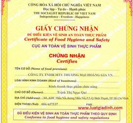 Giấy phép vệ sinh an toàn thực phẩm   Minh Việt   Scoop.it