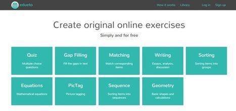 Edu-Curator: Edueto: Leuke gratis online tool om educatieve oefeningen mee te maken | Tools en tips onderwijs | Scoop.it