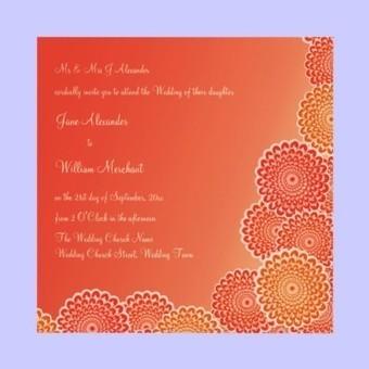 Wedding Invitation Tangerine Orange Flowers from Zazzle.com | Weddings & Wedding Planning | Scoop.it