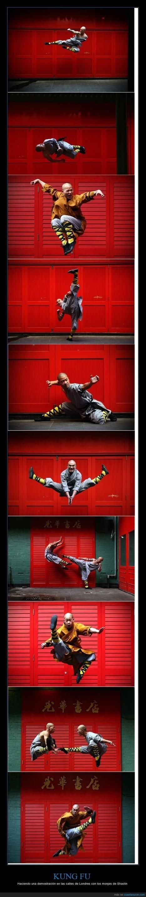 KUNG FU - Haciendo una demostración en las calles de Londres con los monjes de Shaolin | Humor24h | Scoop.it