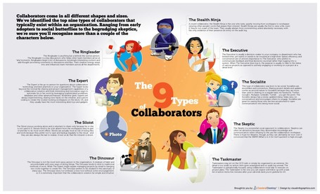 The 9 Types of Collaborators - Infographic | Personal Learning Network | Scoop.it
