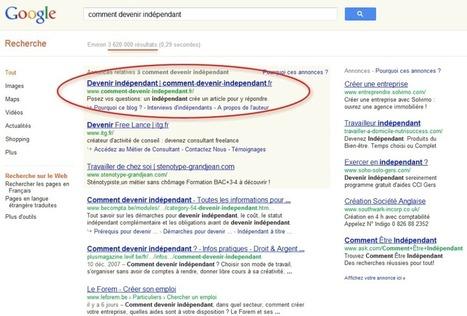 Positionner son site internet en 1er sur Google, en région | ALN : Arpege Learning Network (Groupe ARPEGE) | Scoop.it