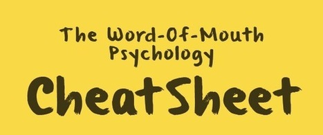 The Word-of-Mouth Psychology Cheat Sheet [Infographic] | Statistics in the News | Scoop.it