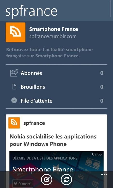 Tumblr officiellement disponible sur le Windows Phone Store | JOIN SCOOP.IT AND FOLLOW ME ON SCOOP.IT | Scoop.it