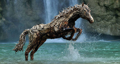 Galloping Horses Made from Driftwood   Culture and Fun - Art   Scoop.it