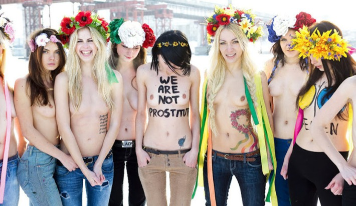 """OUR GOD IS WOMAN, OUR MISSION IS PROTEST, OUR WEAPONS ARE BARE BREASTS!"" – FEMEN 