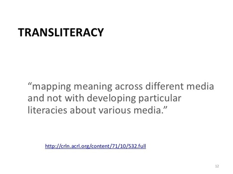 Introducing transliteracy | Academic library trends | Scoop.it