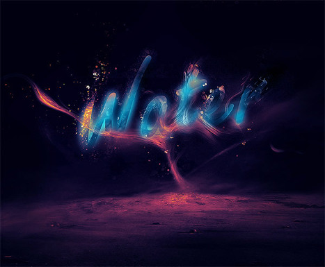 Create a Glowing Water Splashing Text Effect in Photoshop | Photoshop Text Effects Journal | Scoop.it