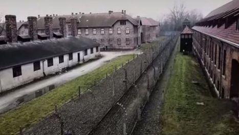 Auschwitz, symbole de la barbarie nazie, filmé par un drone (vidéo) - RTBF Monde | Drôles de drones | Scoop.it