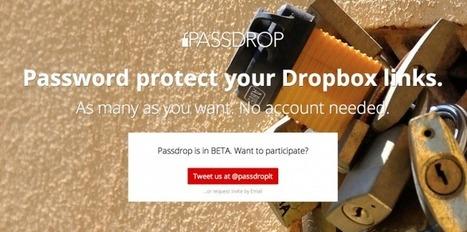 Comparte tus enlaces Dropbox de forma segura con Passdrop | Las TIC y la Educación | Scoop.it